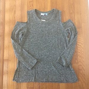 Sweaters - Cold shoulder light weight sweater